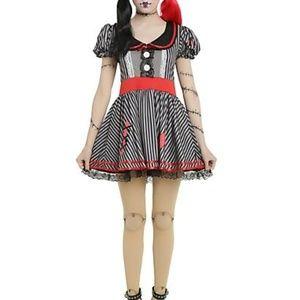 Wind Up Doll Creepy Doll Costume Dress XL New